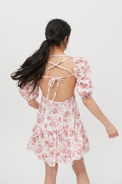 MinkPink Love Story Strappy Back Mini Dress