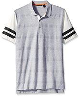 Sean John Men's Big and Tall Short Sleeve Herringbone Stripe Polo