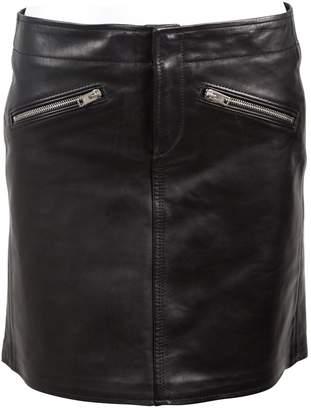 Coach Black Leather Skirts