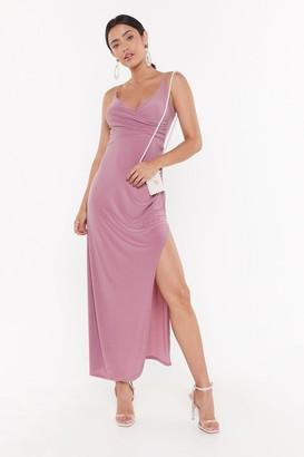 Nasty Gal Womens Hot Date Wrap Maxi Dress - Purple - 8