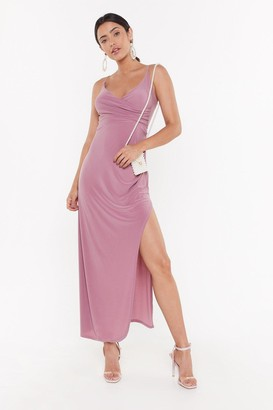 Nasty Gal Womens Hot Date Wrap Maxi Dress - Purple - 12