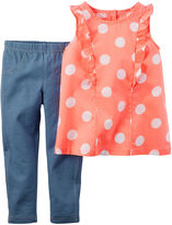 Carter's 2-pc. Flutter-Sleeve and Jeggings Set - Toddler Girls 2t-5t