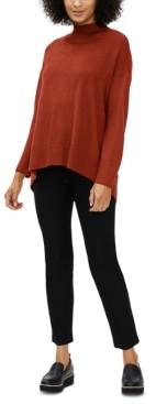 Eileen Fisher Mock-Neck Drop-Shoulder Sweater
