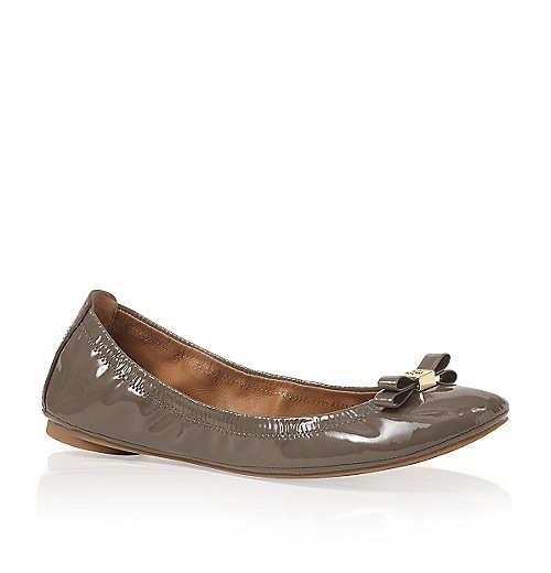 Tory Burch Patent Leather Eddie Bow Ballet Flat