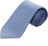 Ermenegildo Zegna Ermengildo Zegna Blue Geometric Silk Tie