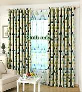WPKIRA Window Treatment Kids Room Semi Blackout Curtains Room Darkening Thermal Insulated Blackout Grommet Top Printing Geometric Triangles Drapes Panel for Boys/Girls Bedroom , 1 Panel W40 x L84 inch