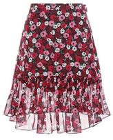 Saint Laurent Floral-printed Silk Skirt