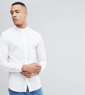Selected Slim Grandad Shirt-White