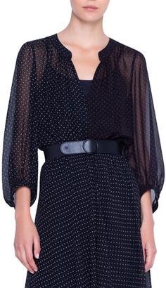 Akris Punto Silk Crepe Patchwork Dress