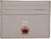 Fendi Grey Flowerland Card Holder