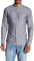 Scotch & Soda Amsterdams Blauw Birdseye Slim Fit Shirt