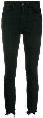 3x1 Frayed Hem Skinny Jeans