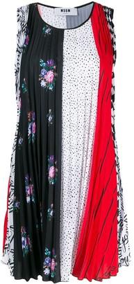 MSGM Pleated Mini Dress