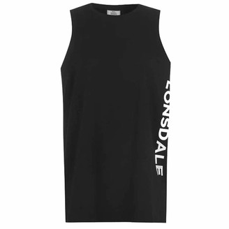 Lonsdale London . Womens Long Line Vest Sleeveless (Black 14)
