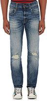 R 13 Men's Boy Straight Jeans-BLUE