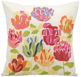 Nourison Multicolored Floral Pillow