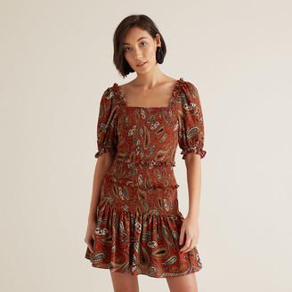 Seed Heritage Oct Paisley Mini Dress