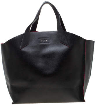 Furla Black Leather Small Jucca Tote