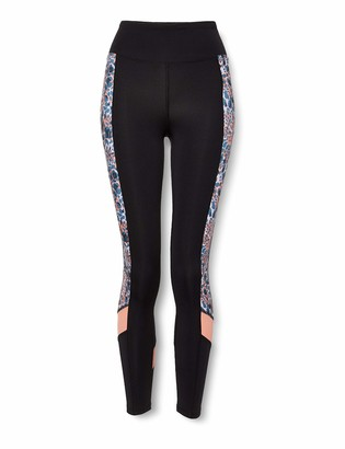Amazon Brand - AURIQUE Women's Printed Side Panel Sports Tights