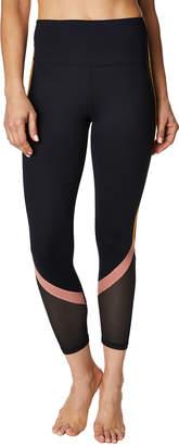 Betsey Johnson Colorblock-Striped Mesh Calf Capri Leggings