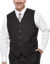 Claiborne Black Suit Vest - Big & Tall