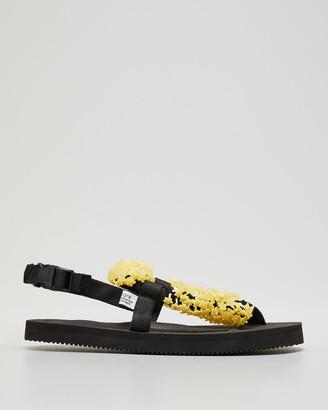Cecilie Bahnsen Nylon 3D Floral Thong Sandals