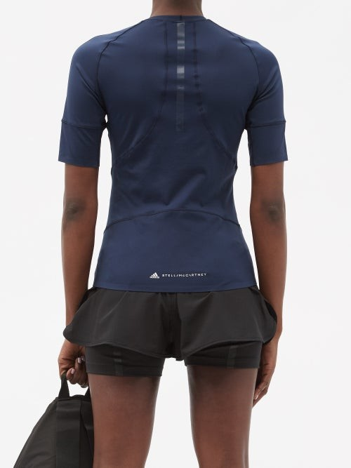 Thumbnail for your product : adidas by Stella McCartney Truepurpose Recycled-fibre Blend T-shirt - Navy
