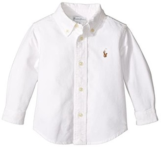 Polo Ralph Lauren Kids Cotton Oxford Sport Shirt (Infant) (White) Boy's Clothing