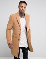 Black Kaviar Wool Overcoat