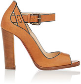 Christian Louboutin Women's Habibabe Leather Ankle-Strap Sandals-Tan