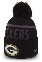 New Era NFL Collection Green Bay Packers Bobble Beanie Hat - O/S
