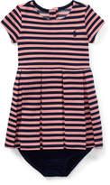 Ralph Lauren Stripe Pleated Dress & Bloomer