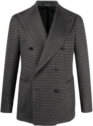 Tagliatore Check Double-Breasted Blazer