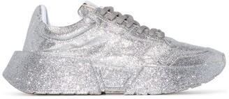 MM6 MAISON MARGIELA Glitter-Effect Lace-Up Sneakers