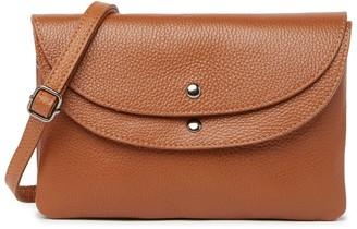 Roberta M Slim Leather Crossbody Bag