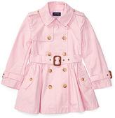 Ralph Lauren 2-6X Cotton Poplin Trench Coat