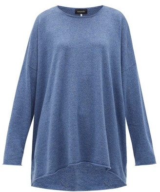 eskandar Boat-neck Cashmere Sweater - Blue