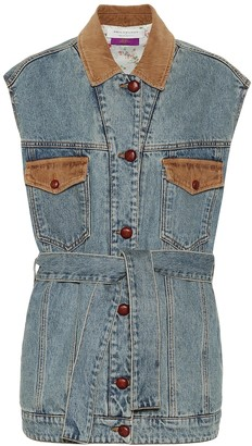Philosophy di Lorenzo Serafini Cotton-denim vest