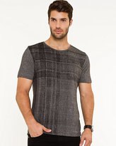 Le Château Plaid Crew Neck T-shirt