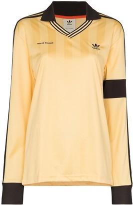 adidas x Wales Bronner stripe print football jersey