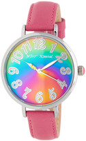 Betsey Johnson Women's Rainbow Leather Watch