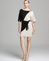 Trina Turk Three Quarter Sleeve Color Block Sweater Dress - Elane