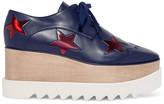 Stella McCartney Elyse Faux Leather Platform Brogues - Navy