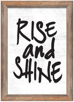 PTM Images Rise and Shine Rustic Wood Framed Giclee - 18 x 22
