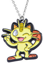 Pokemon Meowth Stainless Steel and Enamel Necklace