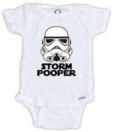 Juju Apparel Funny Baby Onesies, Storm Pooper Star Wars Onesie (6-9 Months)