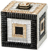 Judith Leiber Couture Cube Crystal Evening Clutch Bag, Champagne Multi
