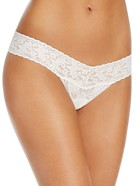 Hanky Panky Pearl & Bow Signature Low Rise Lace Thong