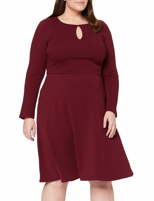 Dorothy Perkins Curve Women's Keyhole Seamed Fit and Flare Dress