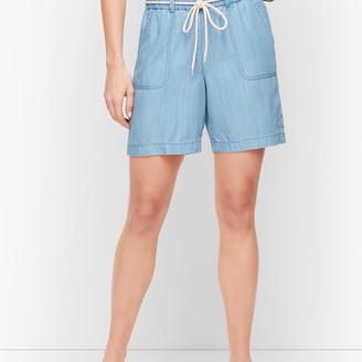 "Talbots Summer Twill Pull-On Shorts - 6"" - TENCEL"